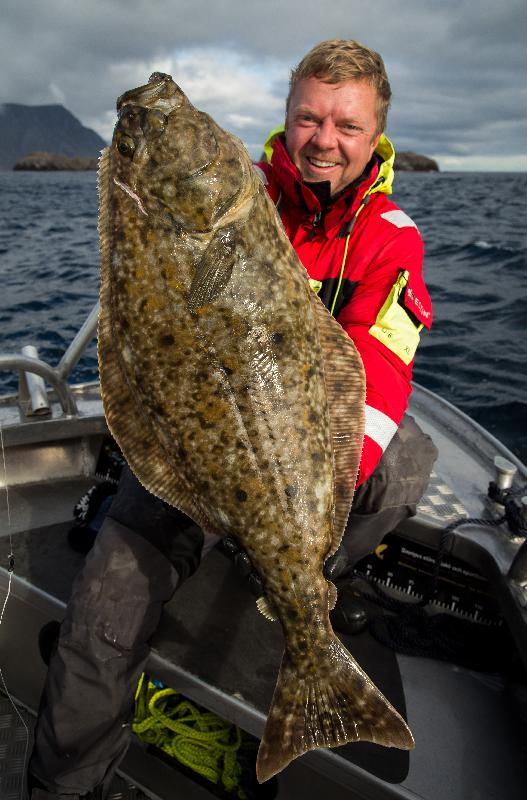 Marcus Kamm with a nice halibut during the last day of fishing!